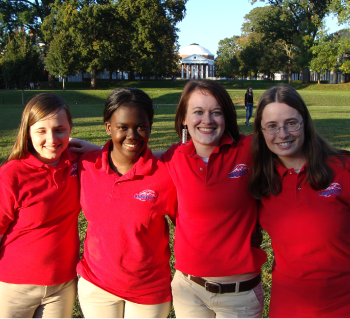 A-team — Liberty Quiz Bowl's Varsity A-team poses after their competition at the University of Virginia. Photo provided