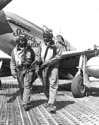 Mustang pilots — The famed Tuskeegee Airmen flew P-51 Mustangs. U.S. Air Force photo