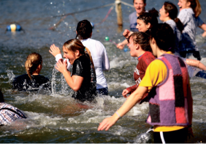 An icy leap — Participants in the Hill City Polar Plunge will jump into the frigid Camp Hydaway Lake, a unique way to raise money for the Lynchburg Special Olympics. Photo credit: Arielei Coelman