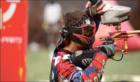 Precision — Paintball has the title in their sights. Photo credit: Joel Coleman, Promotional Publications