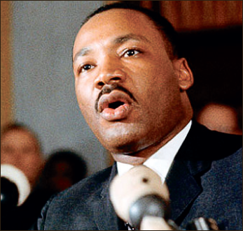 King — Dr. Martin Luther King Jr. gives one of his monumental speeches. Google Images