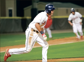 Machine — The Flames have scored 43 runs in four games to open the season. Photo credit: Ruth Bibby