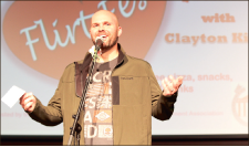 Q & A — Clayton King answered students' questions regarding relationships and dating at the Flirt Fest. Photo credit: Raquel Harmon