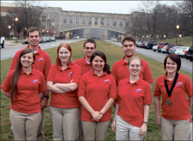 Champions — Liberty's Quiz Bowl team placed third at  Saturday's regional tournament at Virginia Tech. Photo provided