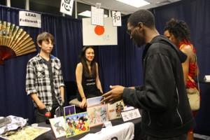 Mixer — Students mingle at the Mosaic Mixer.
