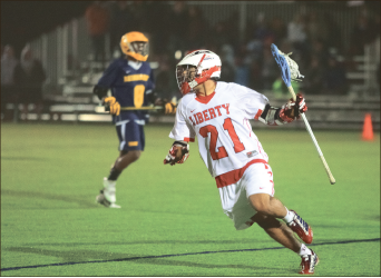 Fire away — Haywood (21) finished with four goals in the 20-11 victory. Photo credit: Ruth Bibby