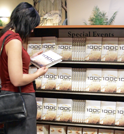 "Edifying reading — ""1000 Days,"" which also has supplemental resources online on TRBC's website, is now available in the Liberty University bookstore, stores nationwide and online. Photo credit: Victoria Brunner"