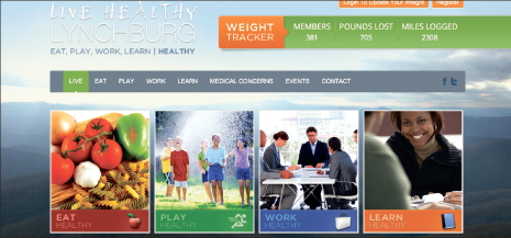 A way of life — Live Healthy Lynchburg's website promotes health to Lynchburg residents in various ways. Photo Provided
