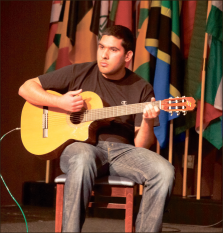 Culture shock — Students from around the globe showed off talents and traditional music as part of International Week. Photo credit: Kate Powley