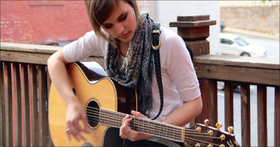 Moving up the charts — Marczewski became the sixth-most downloaded artist on Noisetrade. Photo credit: Raquel Harmon