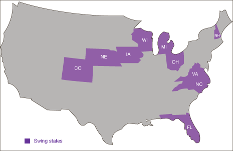 Purple State Map.Swing State Scrapper The Liberty Champion