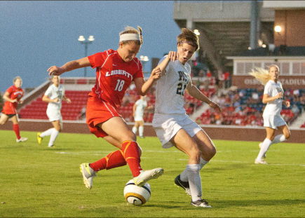 Heartbreak — Pittsburg snapped Liberty's three game winning streak as the Lady Flames were shut-out Friday. Photo credit: Jake Mitchell
