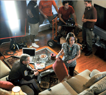 "Lights, camera, action — Liberty and LCA provided filming locations for ""Finding Faith.""  Photo provided"