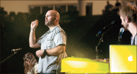 Preaching truth — King spoke four times during the week. Photo credit: Ruth Bibby