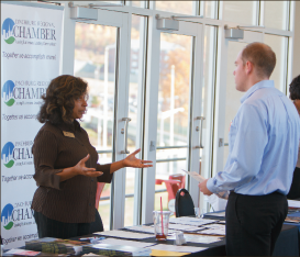 Career — Professionals talked at the career fair Oct. 25. Photo credit: Joel Coleman
