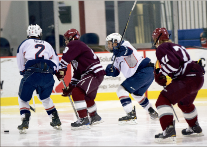Struggle — The men's DII team came up just short against Rider University Saturday. Photo credit: Timothy Sutton