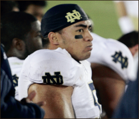 Catfished — Manti Te'o was the victim of a hoax by a friend. Neon Tommy, Creative Commons
