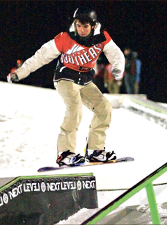 Skills — The Liberty snowboard and skiing team opened its season with a home event. Photo credit: Ruth Bibby
