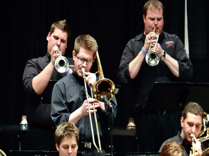 festival — Jazz Ensemble members perform along with 30 other colleges and universities from all across the country before a crowd of roughly 1,000 people. Photo provided