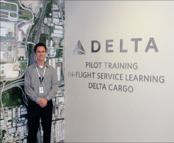 Intern — Floto said that he gained invaluable experience. Photo provided