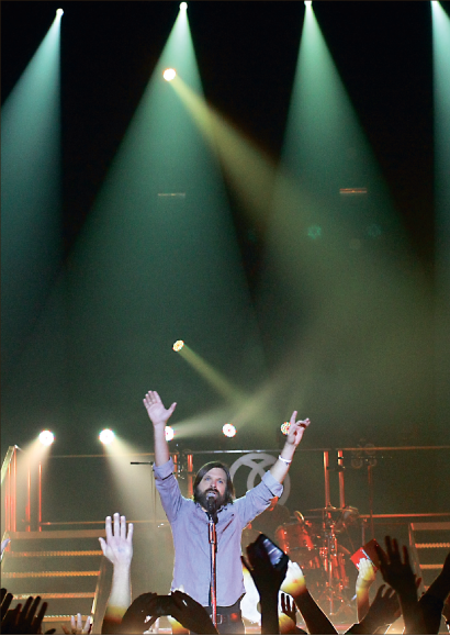 Concert — Third Day performs popular songs and shares their motivation for the tour. Photo credit: Ruth Bibby