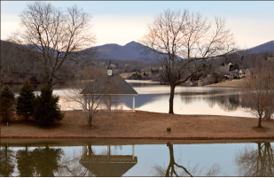 Caution — The Ivy Lake dam may receive some needed attention. Photo credit: Karly Kryza