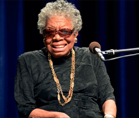 Hope — Poet Maya Angelou addressed a vast crowd at Randolph College Tuesday, Jan. 29. The Pan American, Creative Commons