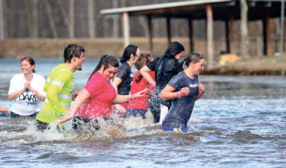 Chillin' — Polar Plunge 2012 raised more than $24,000 for Special Olympics Virginia. Photo credit: Ruth Bibby