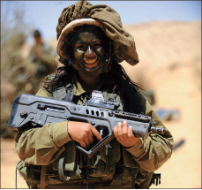 Tough — Countries such as Israel have women on the front lines. Israeli armed forces, Creative Commons