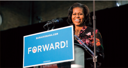 Moving forward — Obama's legacy remains to be seen, but her confidence is apparent. Mike Brophy, Creative Commons