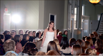 Wedding bells — Gowns from Celebration are shown to future brides. Jake Mitchell
