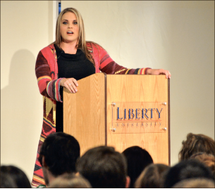 Survivor — Sarah Hill spoke about overcoming traumatic experiences. Photo credit: Jill Springer