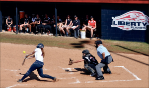 producing runs— Shortsop Holly Seiz contributed at the plate during the three game series. Photo Credit: Katie Welch