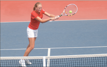 All is love— Alexandera Sheeran has a 2-1 conference record in singles play. Photo credit: Ruth Bibby