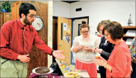 Food — Students present their recipe secrets to guests. Photo credit: Jillian Springer