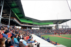 1. A new state-of-the-art stadium houses Flames baseball games.