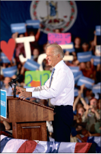Vice President Biden        campaigned in       downtown Lynchburg.