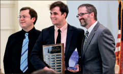 Winner — Andrew Landrun was awarded Most  Outstanding Debater. Photo credit: Emily Becker