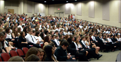 Membership — Students attended the initiation to be officially inducted into the honors society. Photo provided