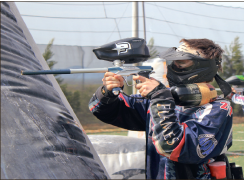 splat — Paintball players practice on East. Photo credit: Courtney Russo