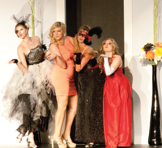 "hollywood — Student Sarah Bell designed her collection based off of ""Phantom of the Opera."" Photo credit: Jake Mitchell"