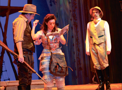 alluvion — Current Liberty students, alumni and other theater professionals combine forces to produce a high-flying show. Photo credit: Ruth Bibby