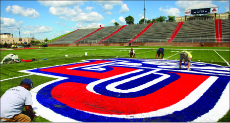 Expansion — Barber hopes the expansion of the stadium will lead to a promotion to the FBS. Photo credit: Ruth Bibby
