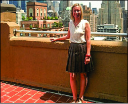INTERN - Jacobsen stops for a photo in Manhattan. Photo provided