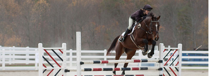 Soaring — Caroline Trexler anticipates having eight to 10 members on the newly-added equestrian team that will compete against other colleges in the region. Photo provided