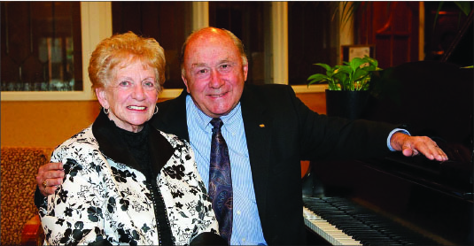 Leisure — Towns sits with his wife Ruth, whom he will be spending more time with while on his sabbatical. Photo provided