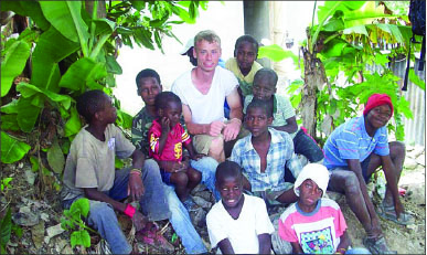 relief — Lawrence built homes in Haiti after the earthquake to help the locals. Photo provided