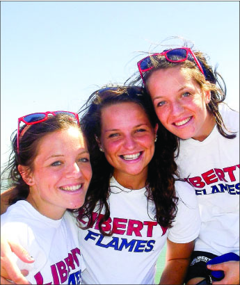 making a difference — Three sisters from Northern Ireland ended up at Liberty after a series of miraculous events. Photo provided