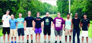 friendship — Taran Kerr (second from the right) said he realized God's plan for his life was to be a neuropsychologist after his accident in the Bahamas . Photo provided