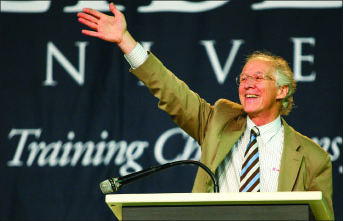 Motivation — John Piper speaks about reaching the world for eternal reward. Photo credit: Ruth Bibby